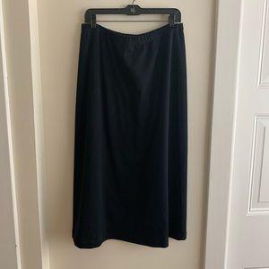 Long cotton knit LL Bean skirt. EUC